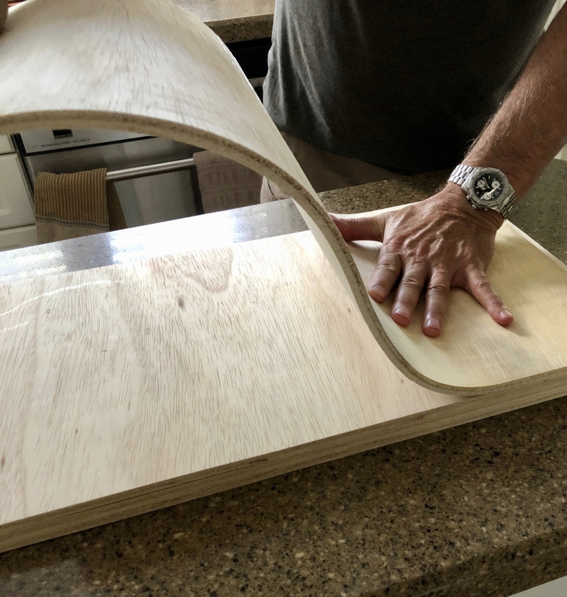 Bendable Ply-Wood For The Front Cowling