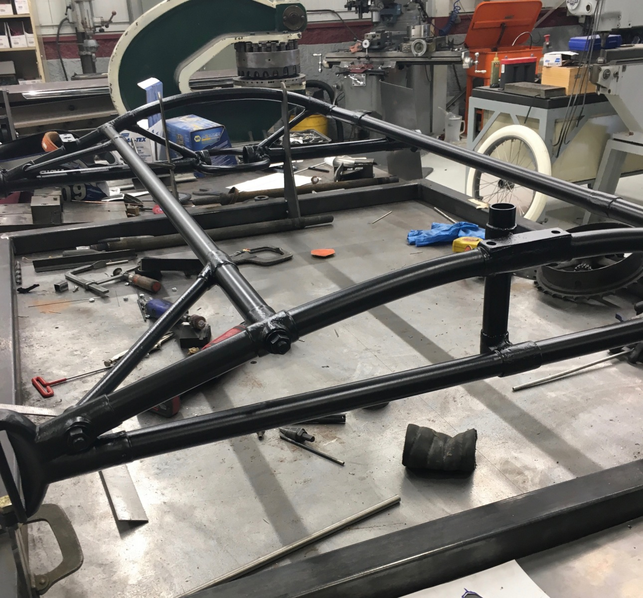 Chassis With Black Epoxy Primer