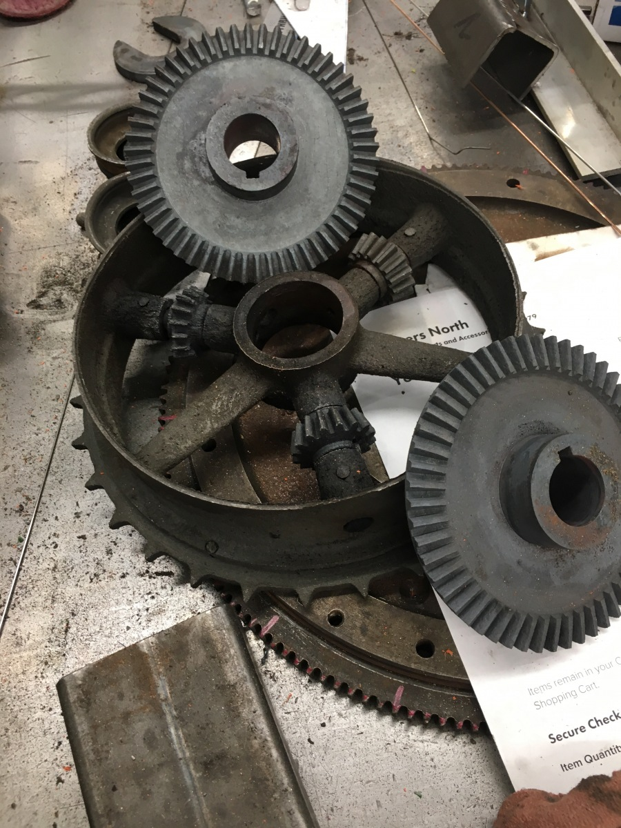 Rear Axle and Sprocket Dismantled - All Intact
