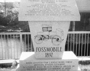 Fossmobile Monument, Sherbrooke, Quebec